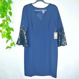 NWT-Vince Camuto Sequin Bell Sleeve Dress 16